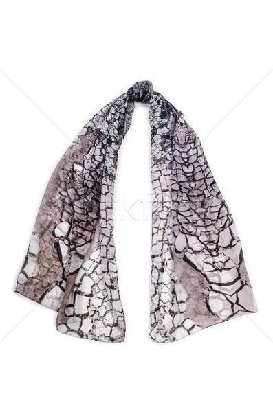 écharpe isolé blanche fond hiver drap Photo stock © Elnur