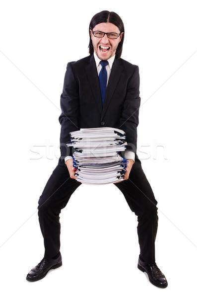 смешные человека документы белый бизнесмен работник Сток-фото © Elnur