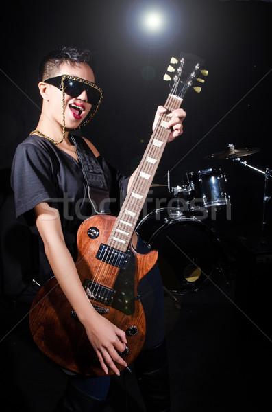 Femme concert musique fête fond Photo stock © Elnur
