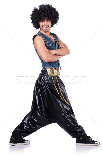 Batida dançarina grande calças branco homem Foto stock © Elnur
