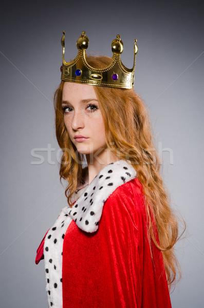 Királynő vörös ruha stúdió nő munka üzletember Stock fotó © Elnur