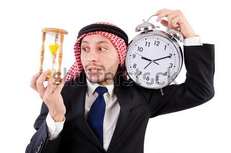 Árabe homem diversidade empresário tempo jovem Foto stock © Elnur