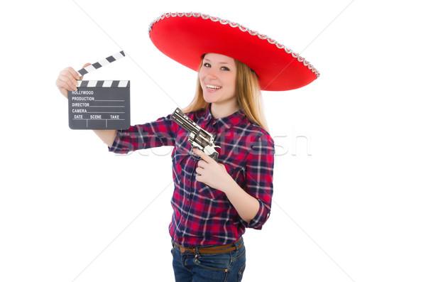 Komik Meksika geniş kenarlı şapka el parti sanat Stok fotoğraf © Elnur