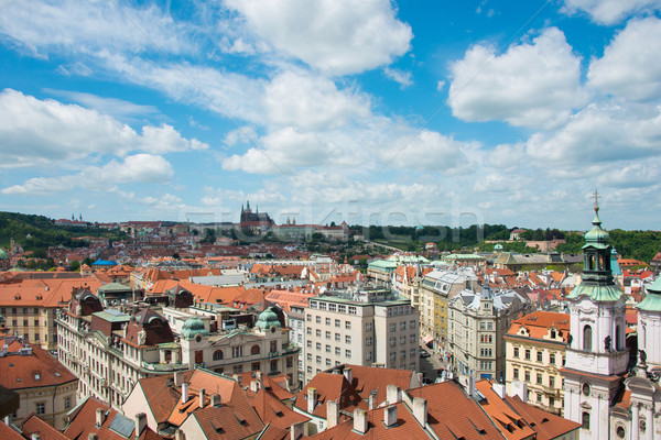 Stock photo: View of Prague on bright summer day