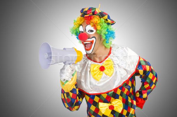 Clown haut-parleur blanche affaires affaires amusement Photo stock © Elnur