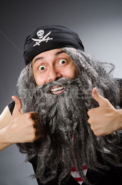 Man in pirate costume isolated on white Stock photo © Elnur