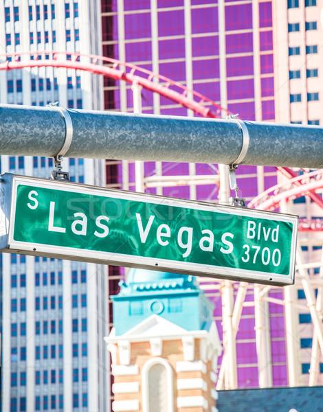 Las Vegas sokak işareti yaz gün yol imzalamak Stok fotoğraf © Elnur