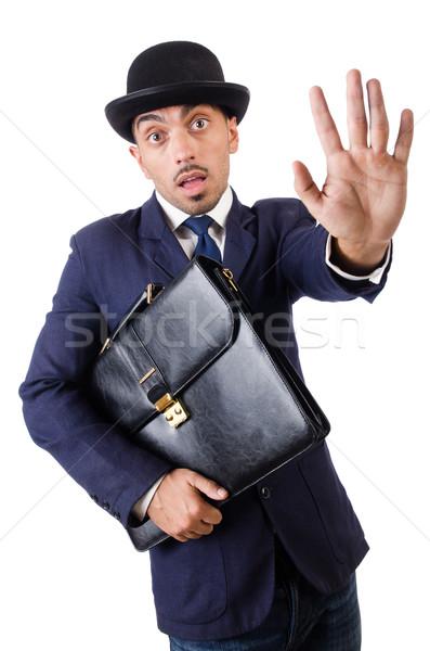 Hombre vintage aislado hombre blanco blanco estudiante Foto stock © Elnur