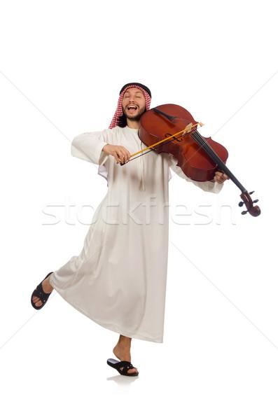 арабских человека играет музыкальный инструмент музыку искусства Сток-фото © Elnur