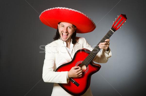 Jovem mexicano guitarrista sombrero música Foto stock © Elnur