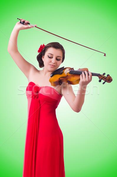 Joven violín blanco arte concierto negro Foto stock © Elnur