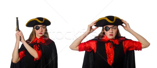 Mulher pirata conceitos branco mão Foto stock © Elnur