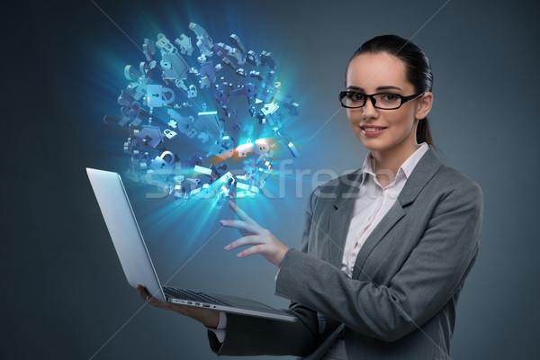 Fiatal üzletasszony jelzálog üzlet iroda ház Stock fotó © Elnur
