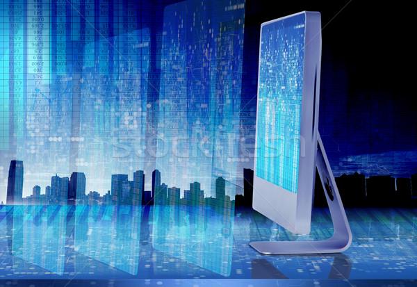 экране компьютера бизнеса 3D компьютер интернет Сток-фото © Elnur