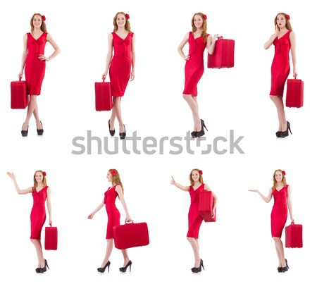 Man in female clothing singing with mic Stock photo © Elnur
