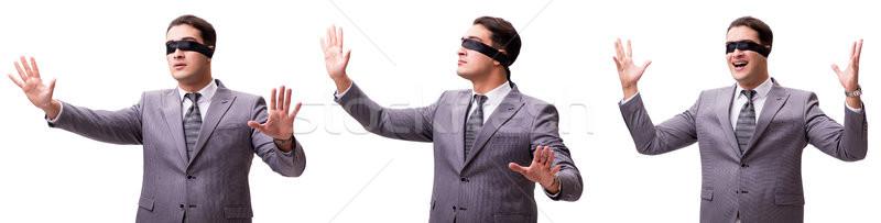 目隠し ビジネスマン 孤立した 白 手 男 ストックフォト © Elnur
