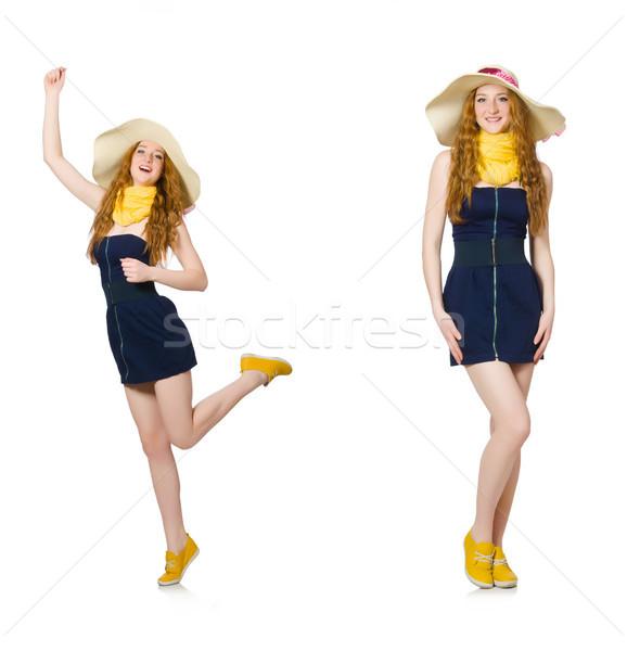 Jonge vrouw mode vrouw strand model kleding Stockfoto © Elnur