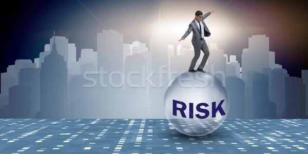 Jungen Geschäftsmann Business Risiko Unsicherheit Mann Stock foto © Elnur