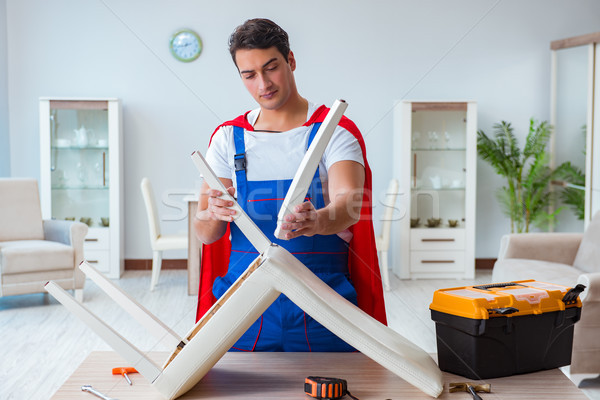 Super hero repairman working at home Stock photo © Elnur