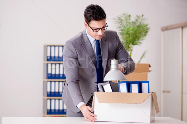üzletember mozog irodák promóció üzlet munkás Stock fotó © Elnur