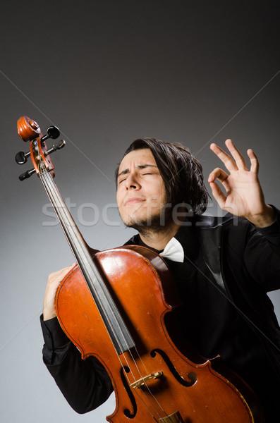 Férfi musical művészet szomorú koncert fiatal Stock fotó © Elnur