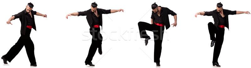 Hiszpanski tancerz różny biały tle hot Zdjęcia stock © Elnur