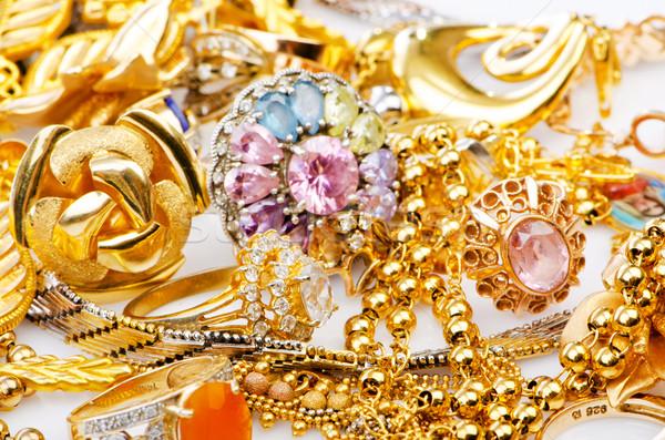 большой коллекция золото ювелирных кольца Diamond Сток-фото © Elnur