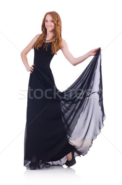 Femme modèle mode blanche fille train Photo stock © Elnur