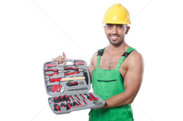Man with toolkit isolated on the white Stock photo © Elnur