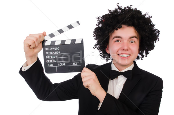 Funny movie director isolated on white Stock photo © Elnur