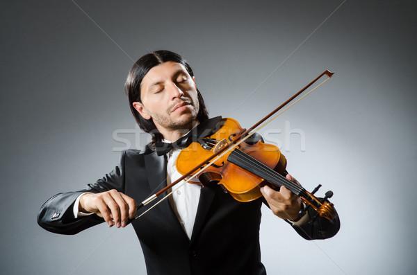 Foto stock: Homem · violino · jogador · diversão · soar · masculino