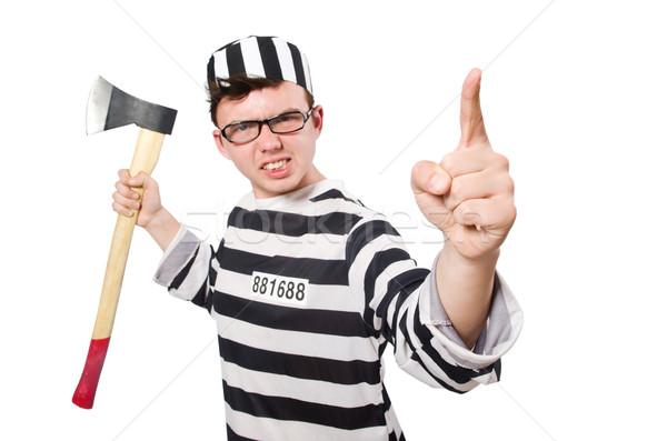 Funny prison inmate in concept Stock photo © Elnur