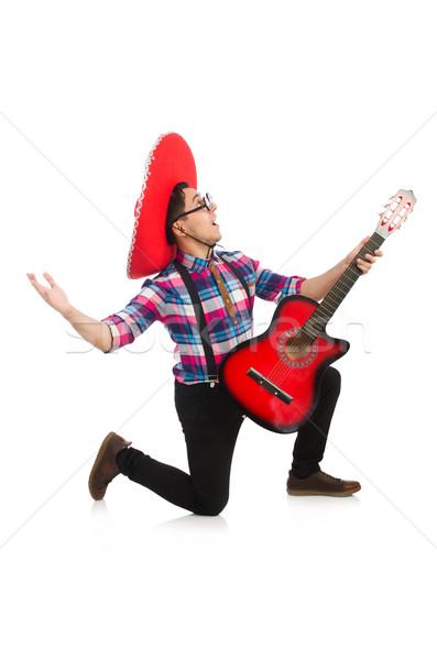 Divertente mexican sombrero musica party chitarra Foto d'archivio © Elnur