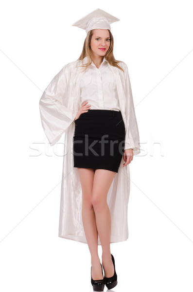 Graduate girl solated on white Stock photo © Elnur