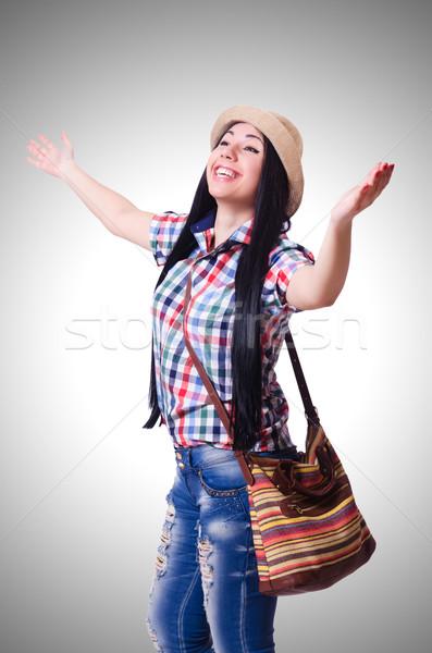 Mulher jovem pronto férias de verão branco menina feliz Foto stock © Elnur