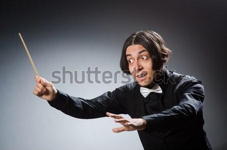 ビジネスマン 剣 白 男 背景 企業 ストックフォト © Elnur