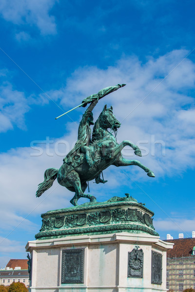Statue of Archduke Charles in Vienna, Austria Stock photo © Elnur