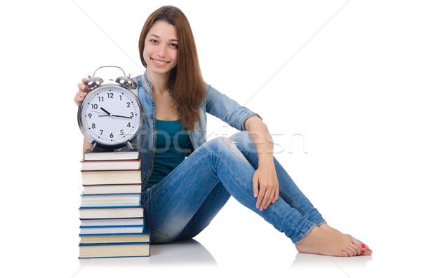 Student meisje voldoen studeren deadlines vrouw Stockfoto © Elnur
