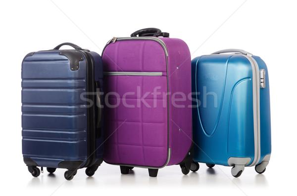 Seyahat bagaj yalıtılmış beyaz iş arka plan Stok fotoğraf © Elnur
