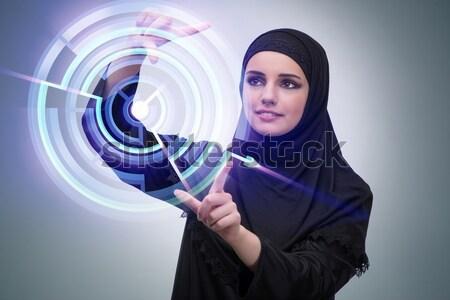 Jovem freira religioso beleza adorar rezar Foto stock © Elnur