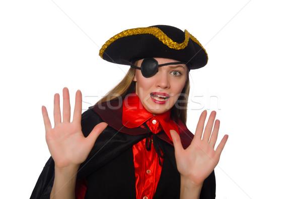 Bastante pirata menina carnaval roupa isolado Foto stock © Elnur