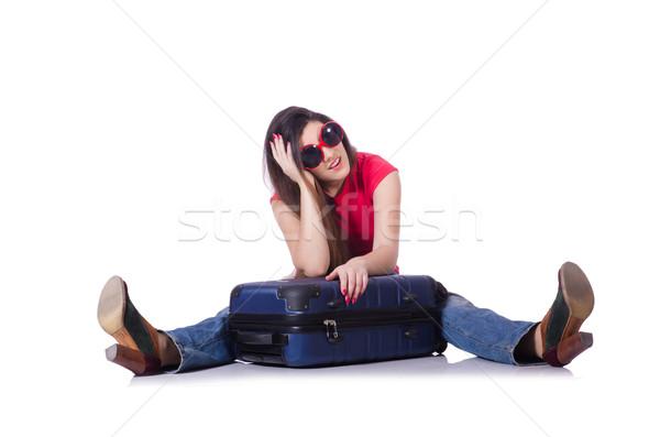 Fiatal nő nyári vakáció lány boldog divat háttér Stock fotó © Elnur