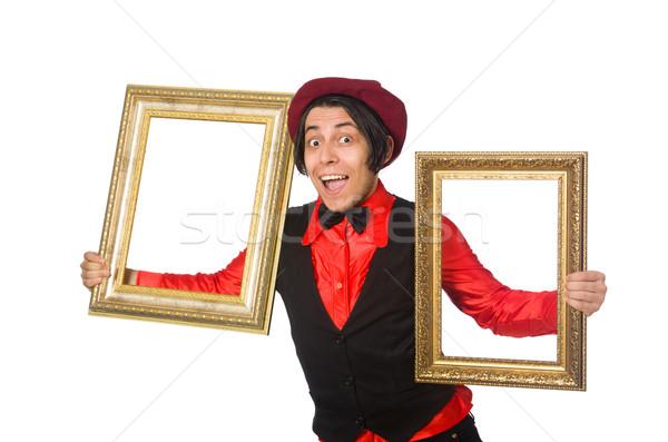 Funny artista aislado blanco trabajo estudiante Foto stock © Elnur