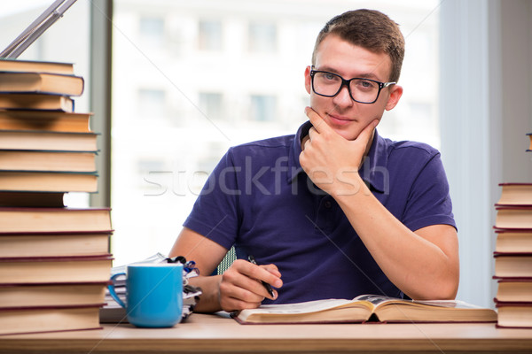 The young student preparing for school exams Stock photo © Elnur