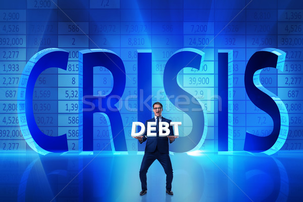 Businessman in crisis business concept Stock photo © Elnur