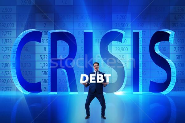 бизнесмен кризис бизнеса банка рынке карт Сток-фото © Elnur