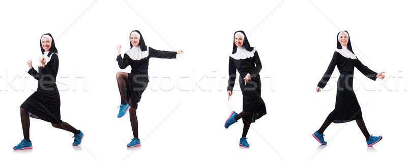 The nun isolated on the white background Stock photo © Elnur