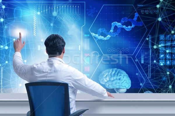 The doctor in telemedicince futuristic medical concept Stock photo © Elnur
