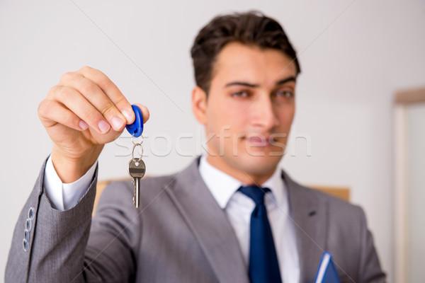 Makelaar sleutel business geld huis Stockfoto © Elnur