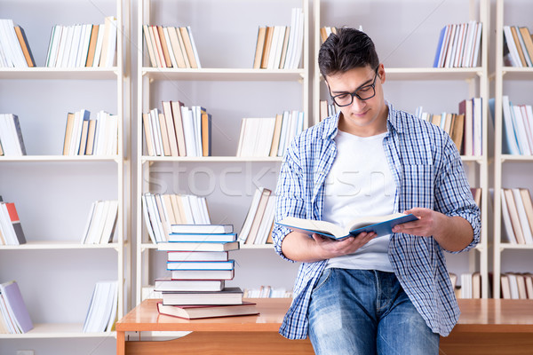 Young student with books preparing for exams Stock photo © Elnur